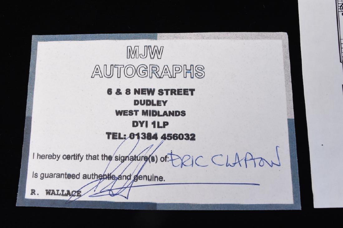 Autographed Eric Clapton Sheet Music - 8
