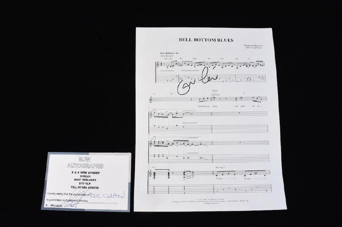 Autographed Eric Clapton Sheet Music - 9
