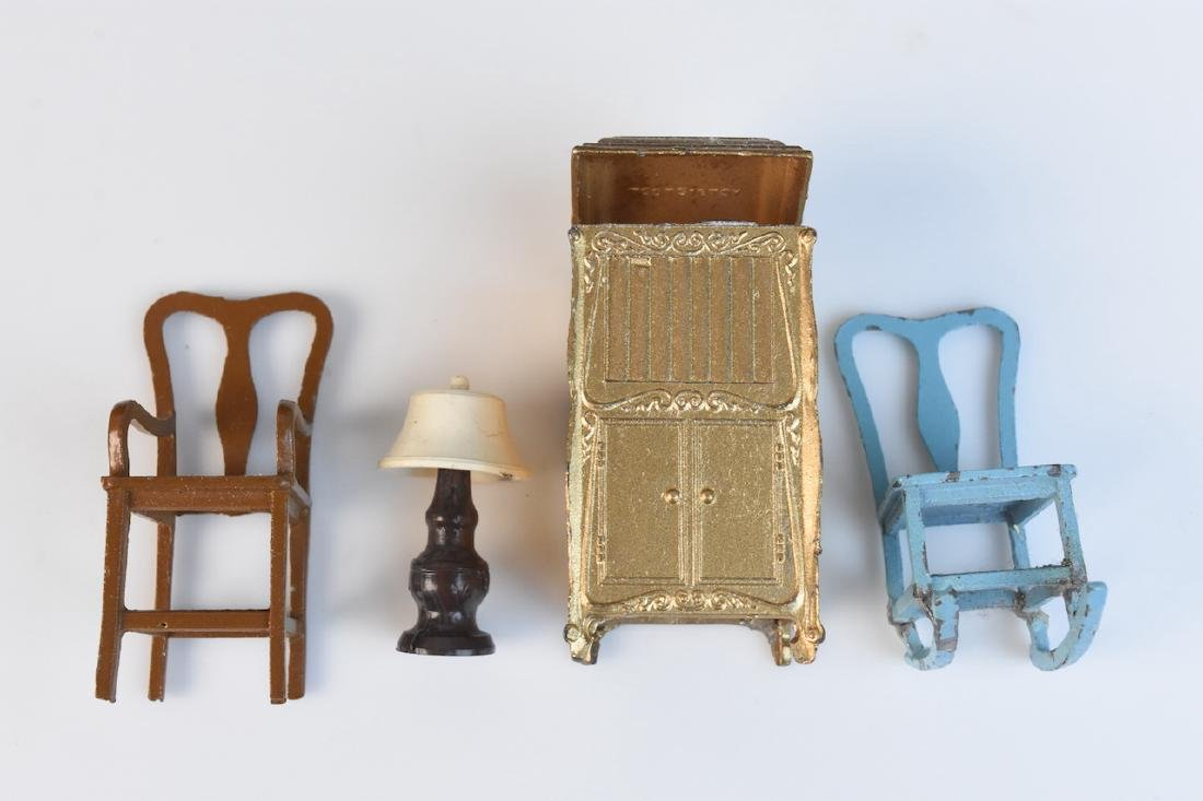 Miniature Tootsie Toy Cast Iron Doll Furniture - 6