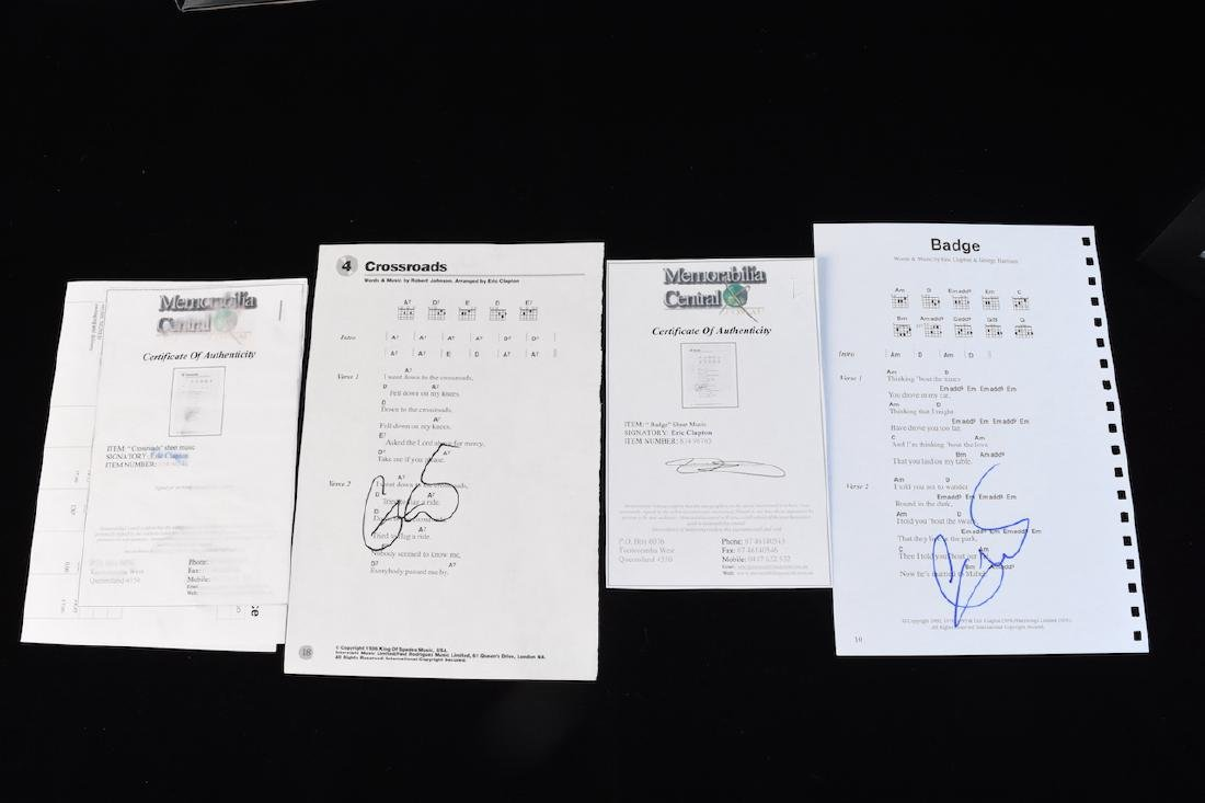 Eric Clapton Signed Sheet Music and Drum Stick - 4