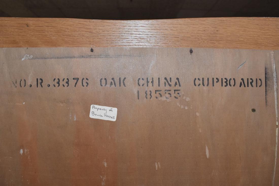 (2) Piece Oak China Cupboard with Storage - 5