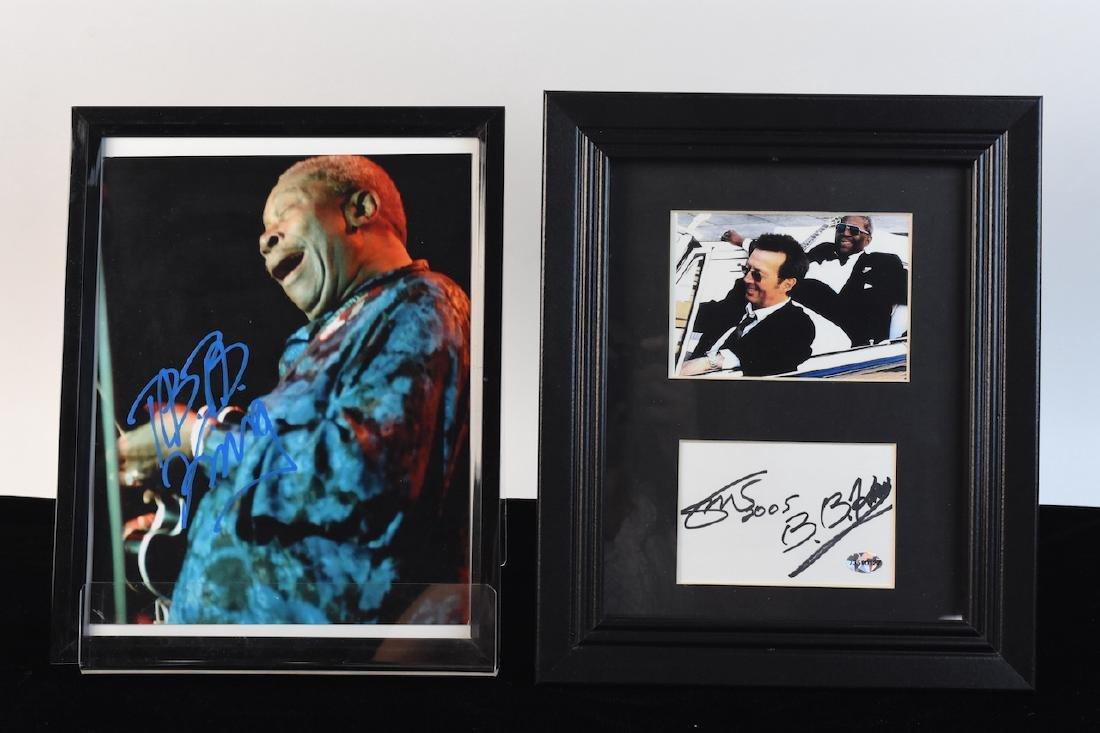 Eric Clapton & B.B. King Signed Photo's