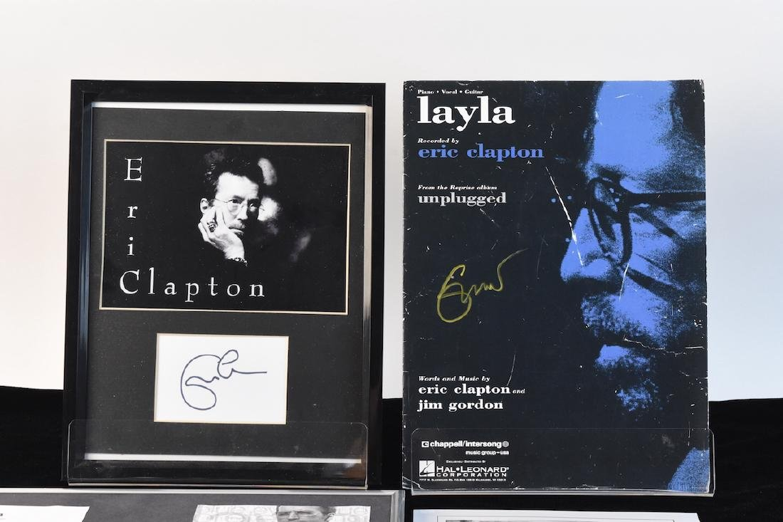 Eric Clapton Signed Pictures & Sheet Music - 2