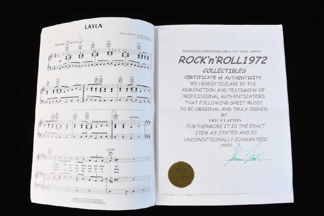 Eric Clapton Signed Pictures & Sheet Music - 5