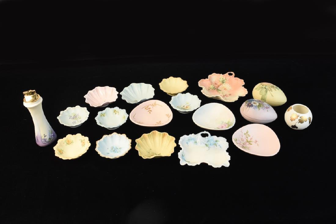 (20) Pieces Vanity Porcelain Signed by M. Lienhart