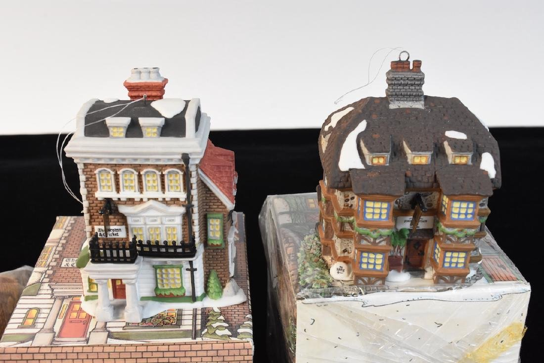 (8) Charles Dickens Dept 56 Collectors Ornaments - 2