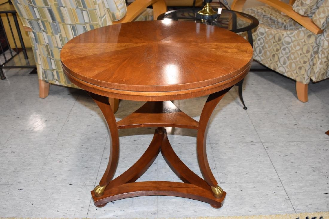 Baker Furniture Solid Wood Round Side Table