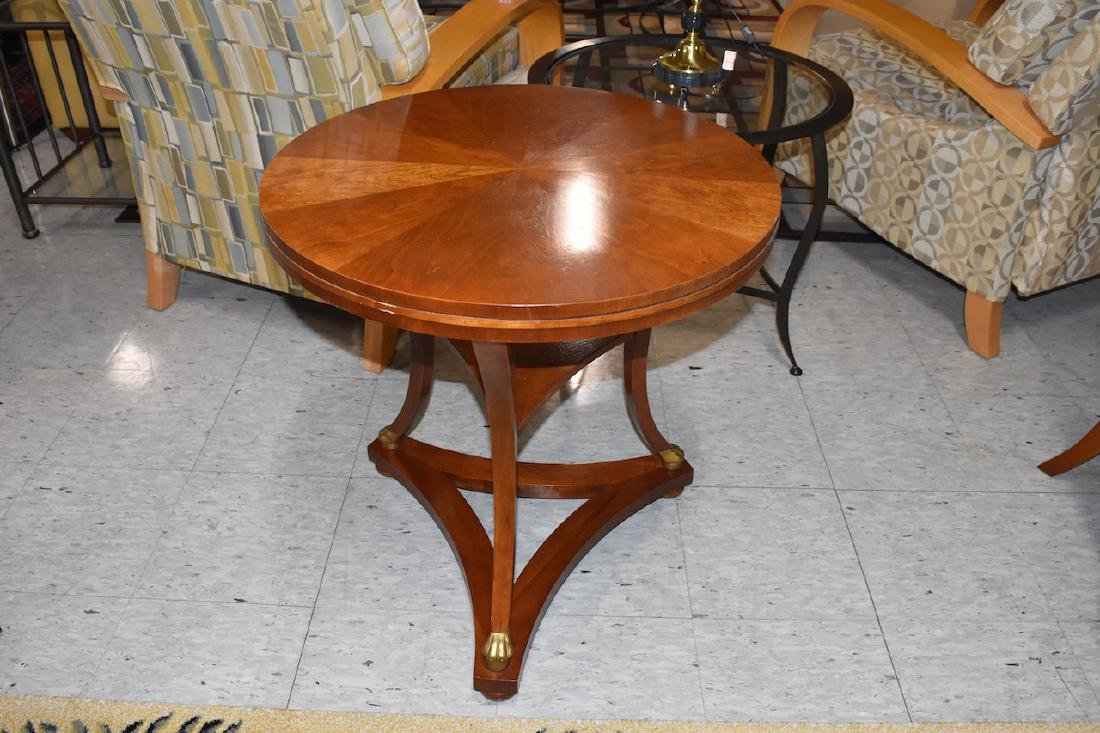Baker Furniture Solid Wood Round Side Table - 2