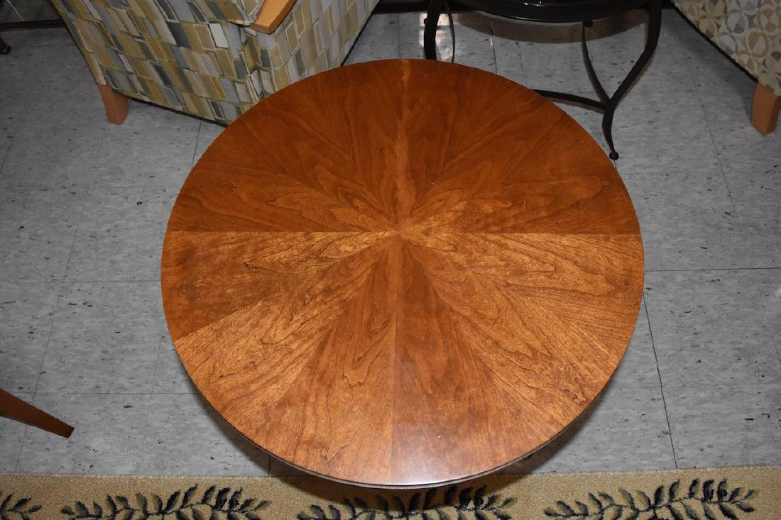 Baker Furniture Solid Wood Round Side Table - 3