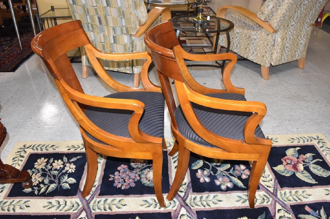 (2) Padded Baker Furniture Solid Wood Chairs - 2