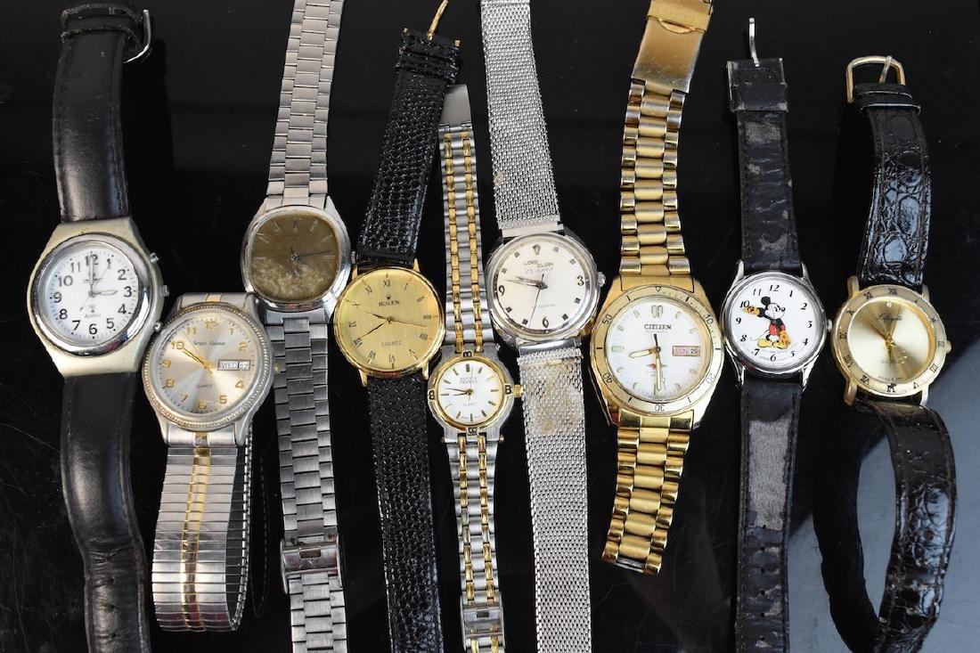 (9) Assorted Watches; Rolex, Citizen, Elgin