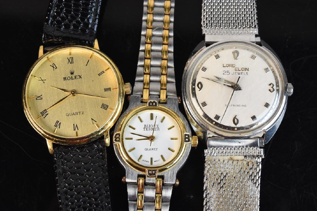 (9) Assorted Watches; Rolex, Citizen, Elgin - 3