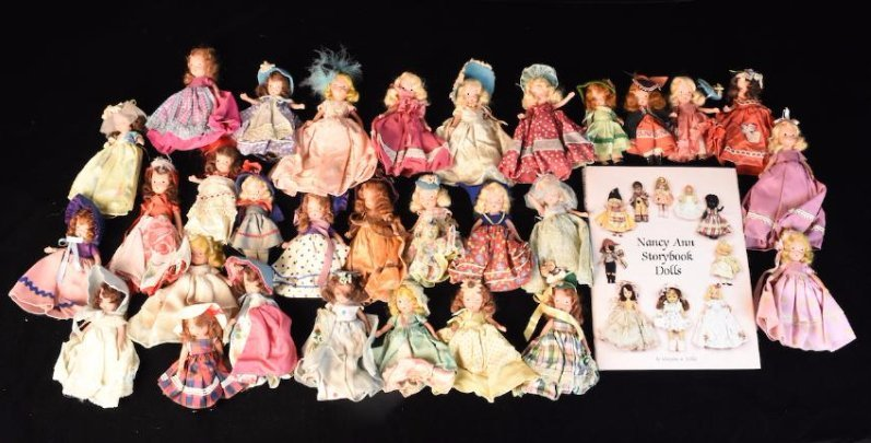 (30) Nancy Ann Storybook Dolls w/ Book