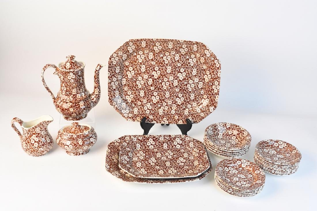 Royal Crownford Calico Dish Set; England