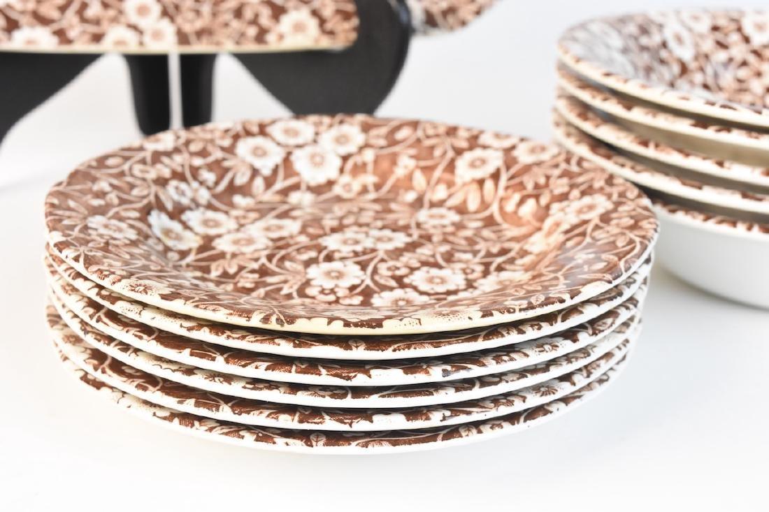 Royal Crownford Calico Dish Set; England - 6