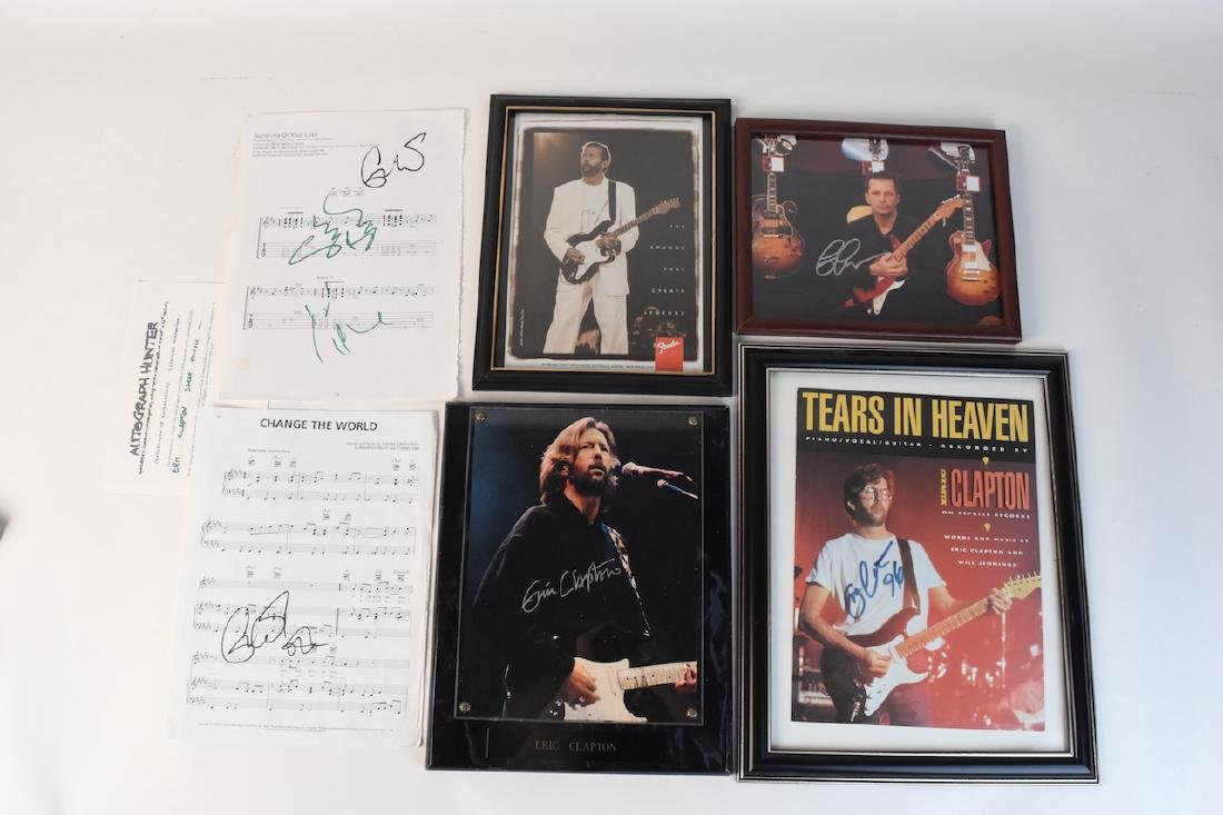 Collection of Eric Clapton signed Memorabilia