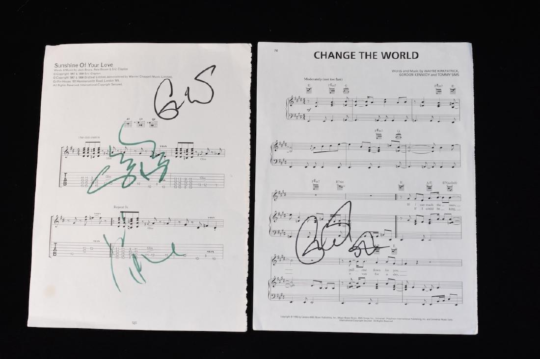 Collection of Eric Clapton signed Memorabilia - 7