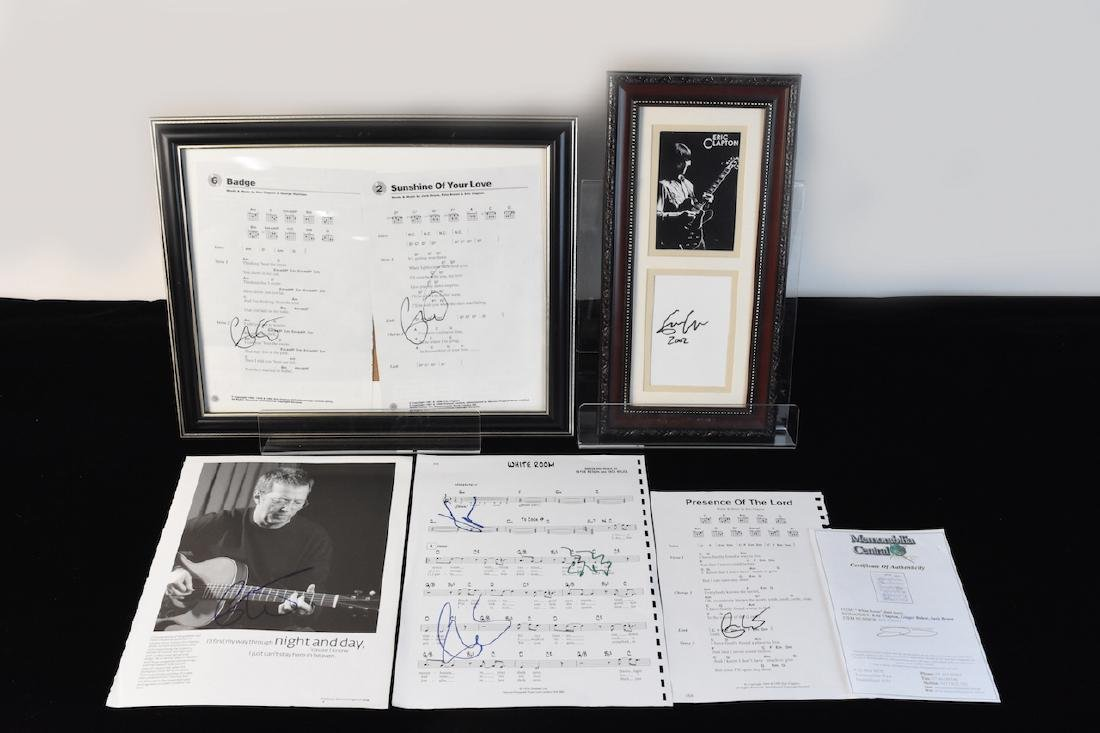 Signed Eric Clapton Sheet Music and Photo's