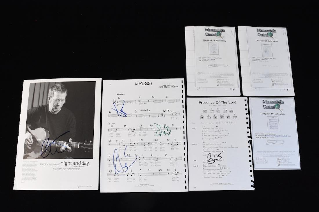 Signed Eric Clapton Sheet Music and Photo's - 5