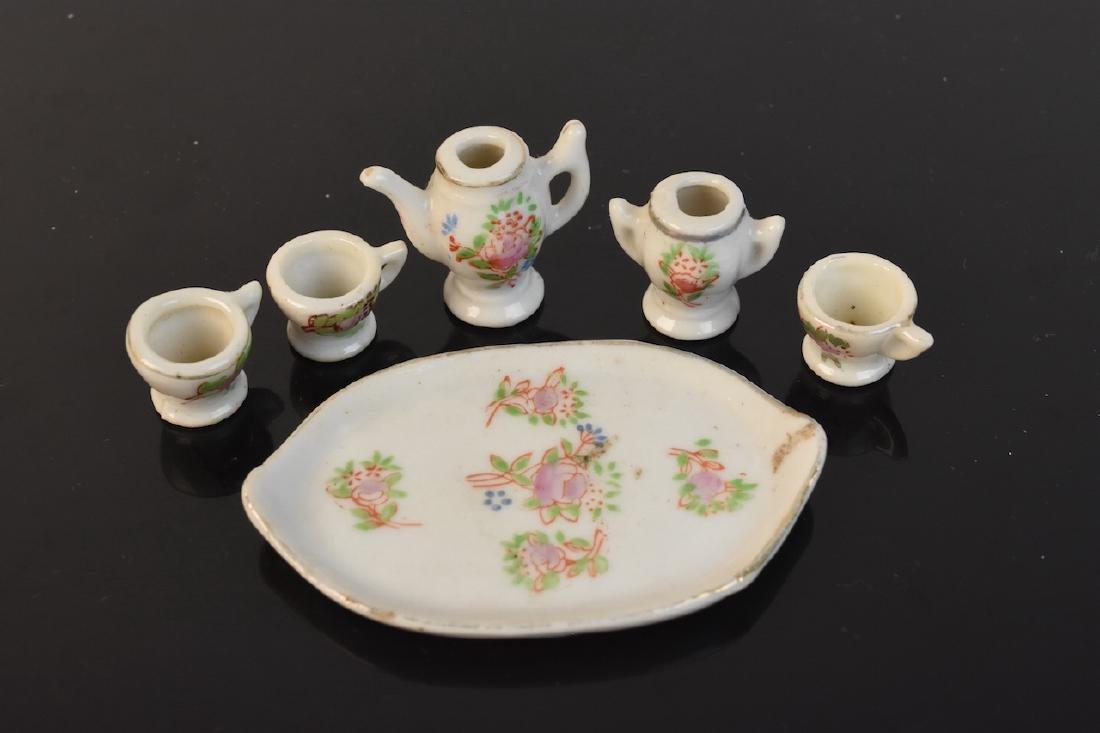 Hat Pin Holders, Vases, Mini Tea Set, Button Hooks + - 10