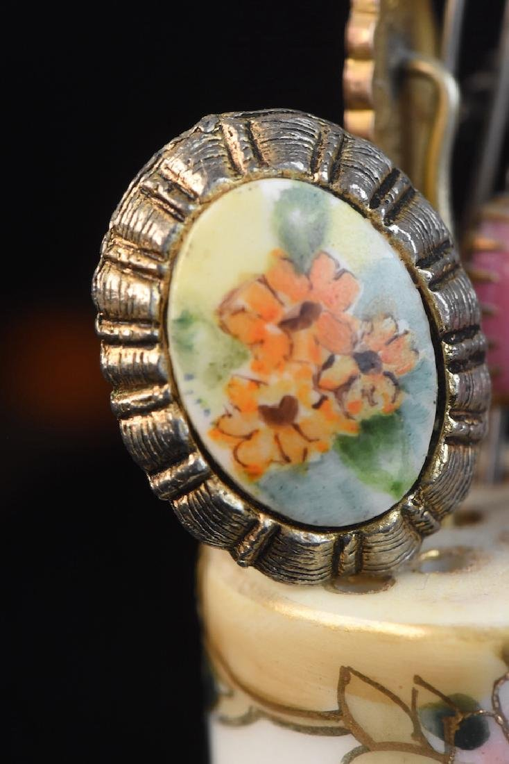 Hat Pin Holders, Vases, Mini Tea Set, Button Hooks + - 8