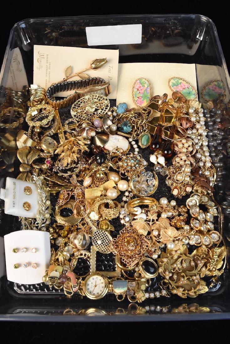 Costume Jewelry; Monet, Sorrento, Bulova, Judy Lee + - 10