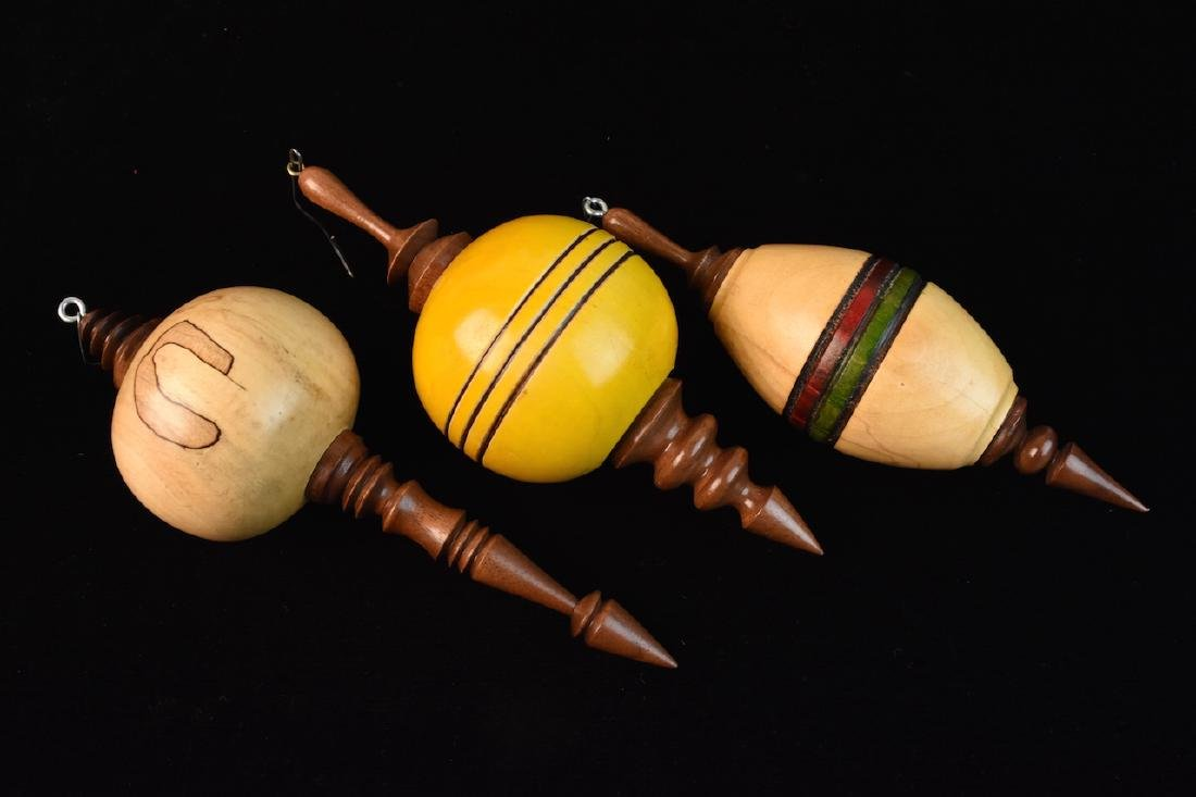Turned Wood Candle Holders & Ornaments - 2