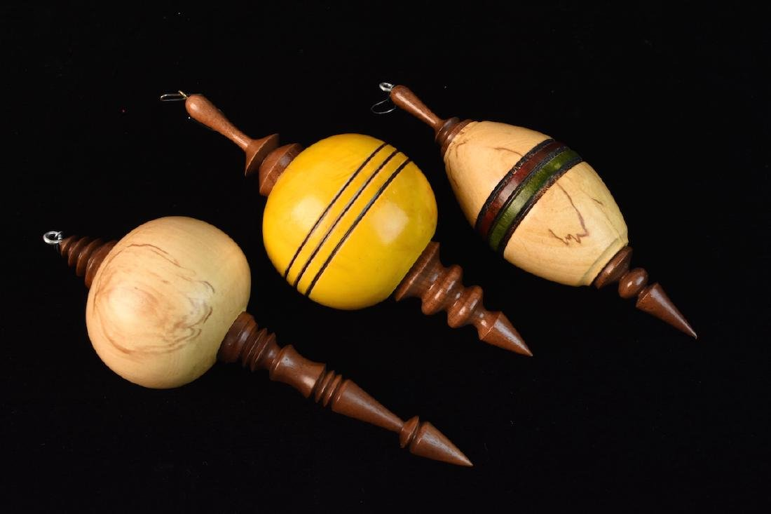 Turned Wood Candle Holders & Ornaments - 3