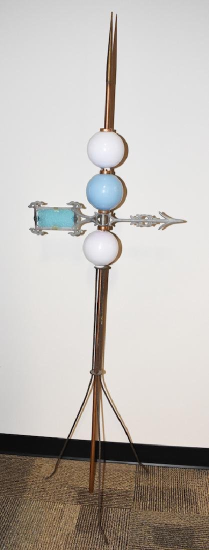 Vintage Copper Lightening Rod w/ Directional Arrow