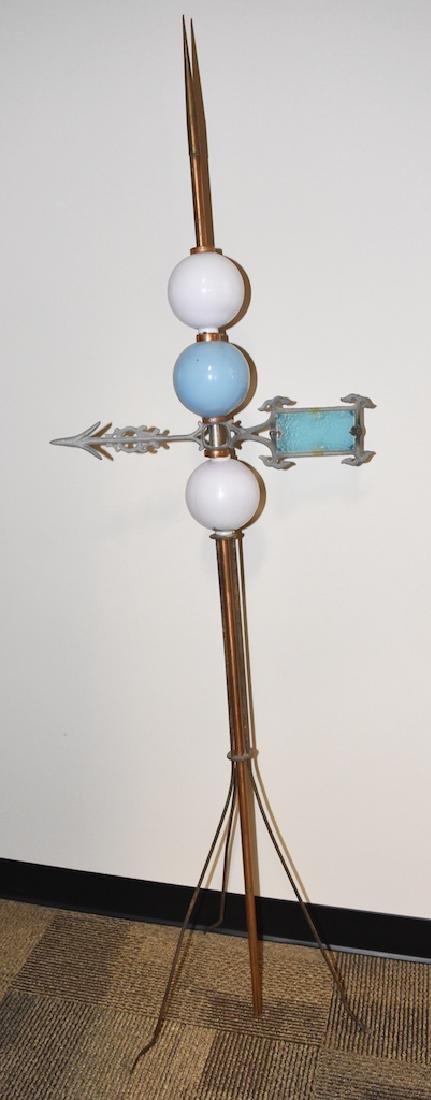 Vintage Copper Lightening Rod w/ Directional Arrow - 2