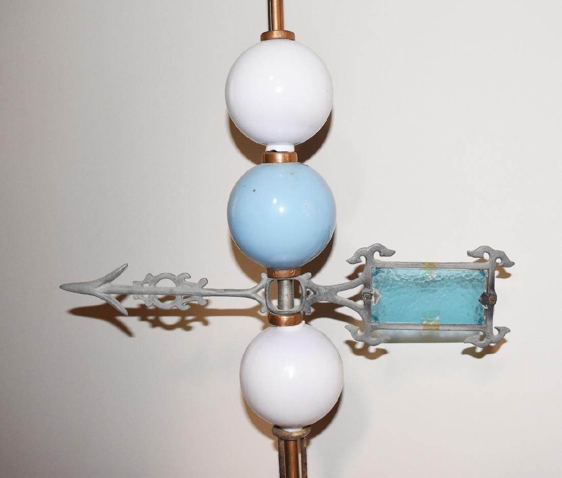 Vintage Copper Lightening Rod w/ Directional Arrow - 3