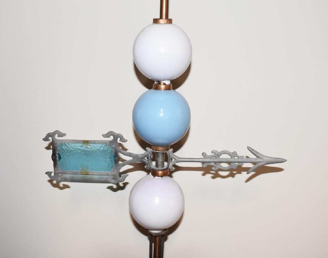 Vintage Copper Lightening Rod w/ Directional Arrow - 4