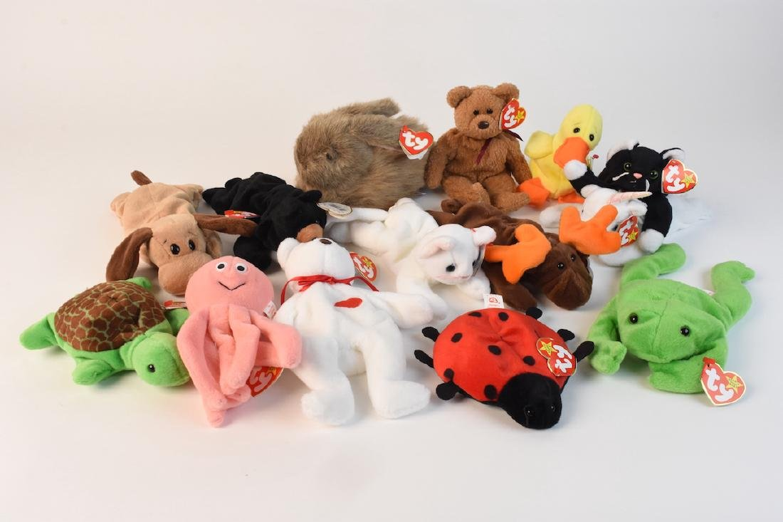 Collection of Beanie Babies Made in 1993