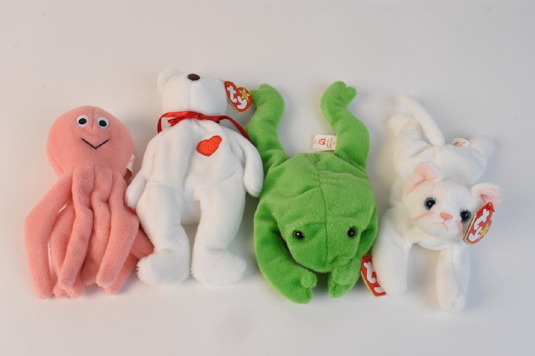 Collection of Beanie Babies Made in 1993 - 4