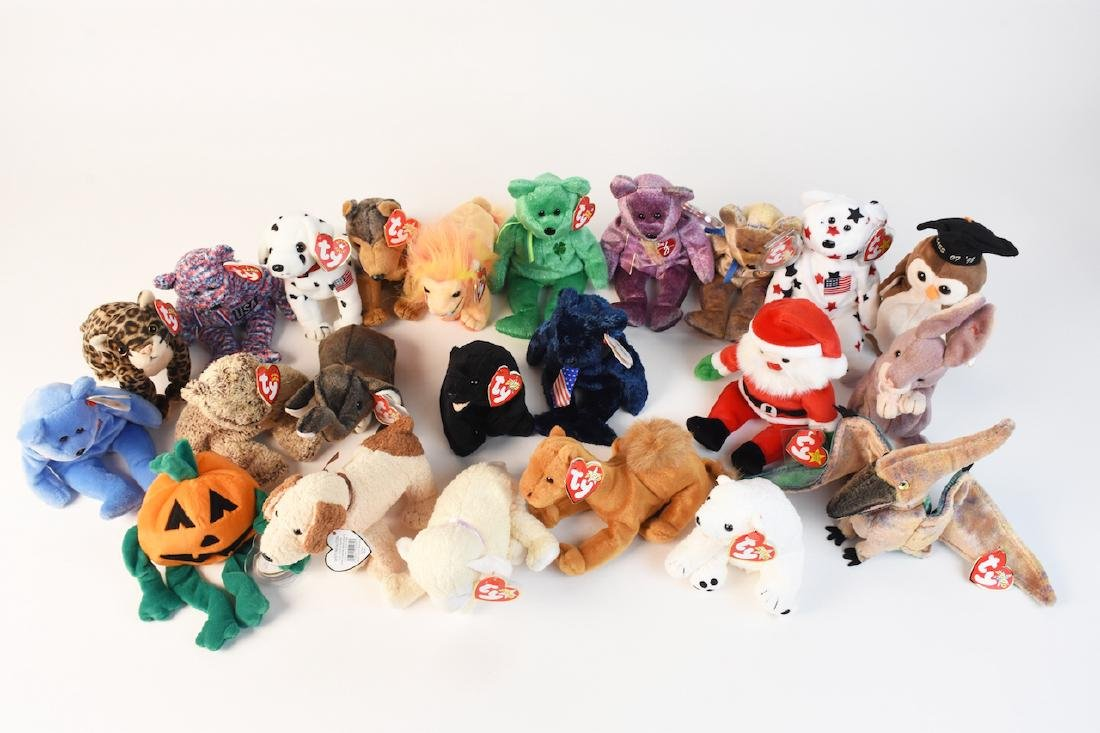 Selection of Beanie Babies from '98, 2000 & '02
