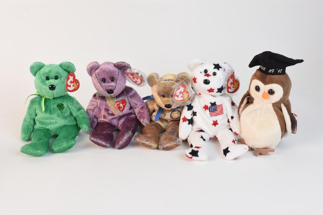 Selection of Beanie Babies from '98, 2000 & '02 - 2