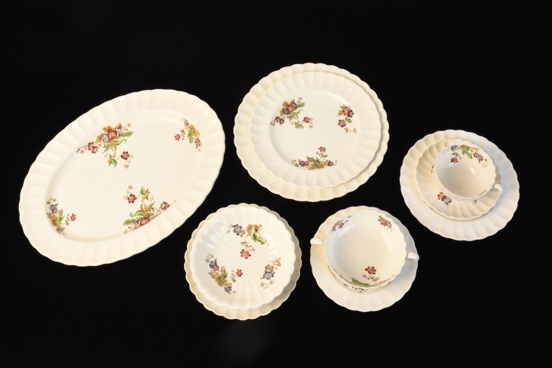 "Copeland Spode ""Wicker Lane"" Dinner Service"