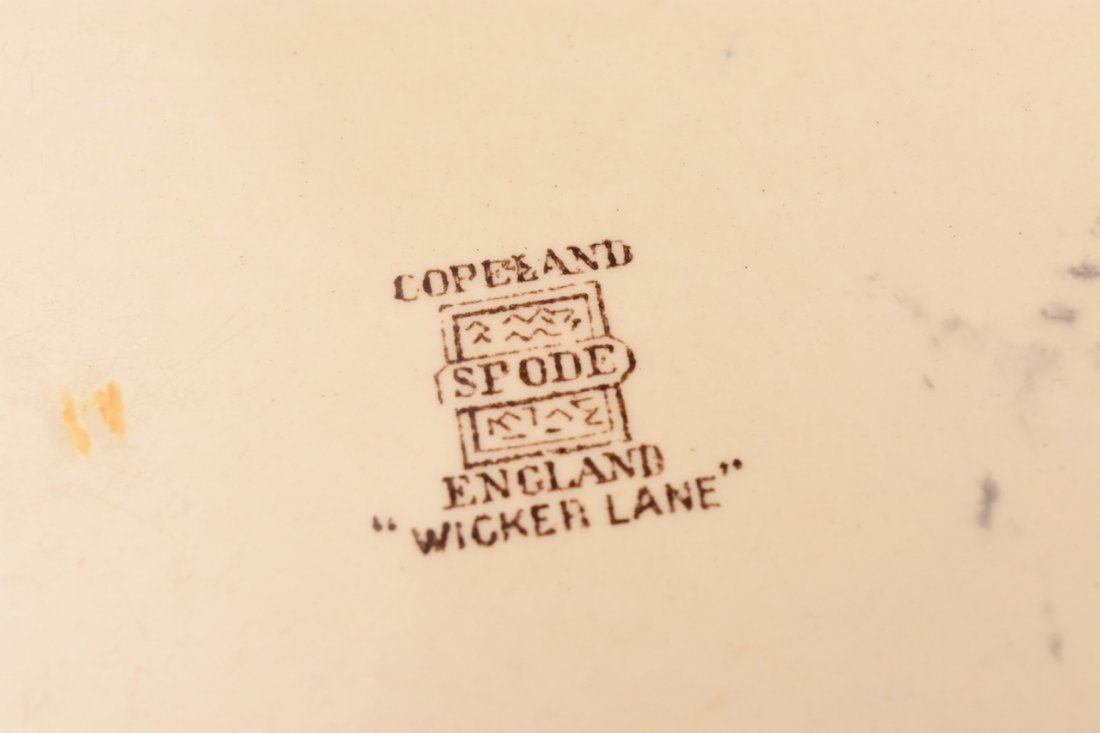 "Copeland Spode ""Wicker Lane"" Dinner Service - 2"
