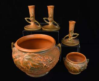 Collection of Roseville Bushberry Pottery