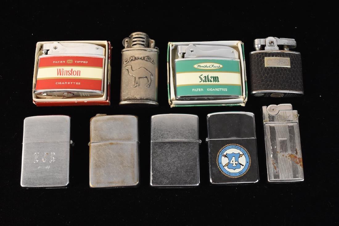 Collection of Zippo & Advertising Lighters