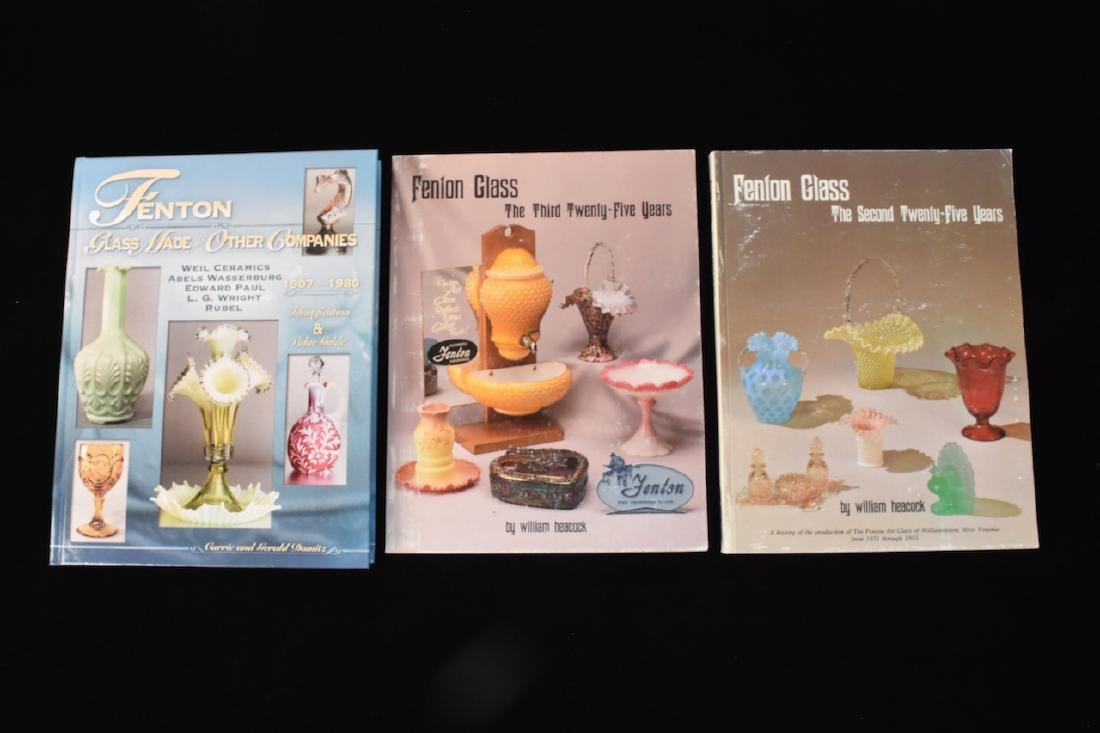(3) Fenton Glass Reference Guide Books