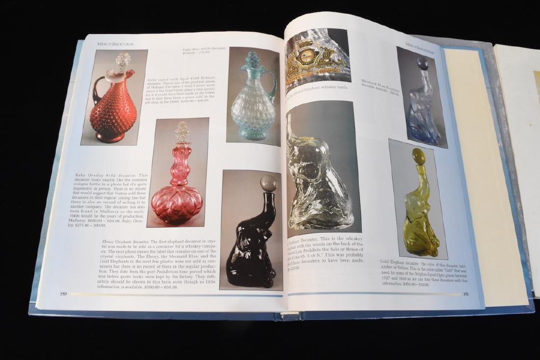 (3) Fenton Glass Reference Guide Books - 5