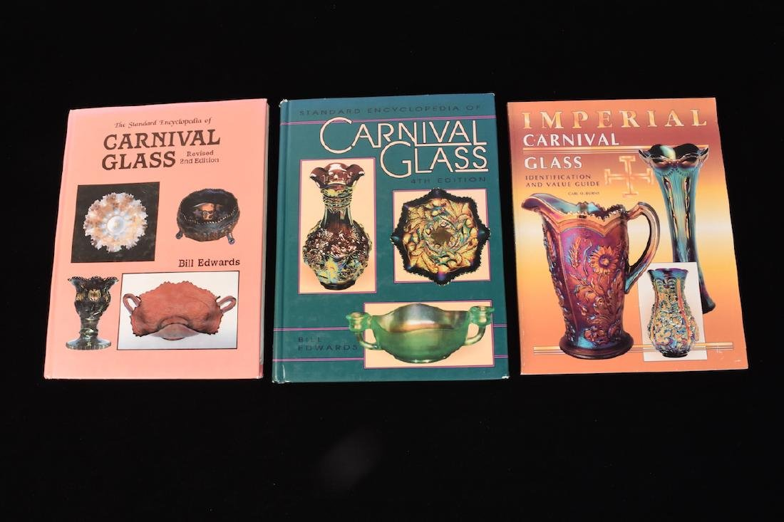 (3) Carnival Glass Reference Guide Books