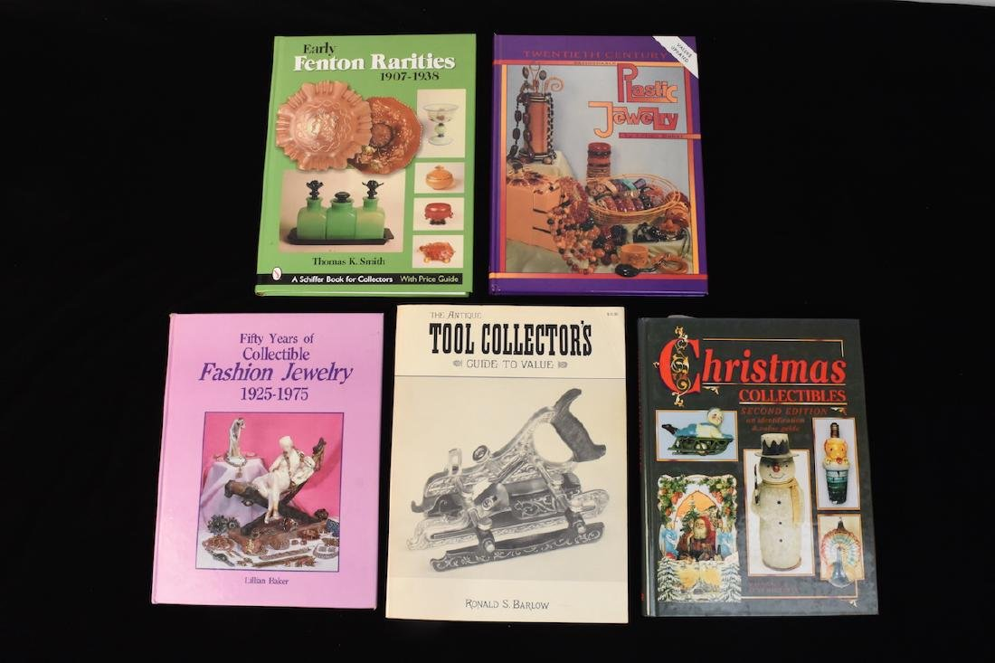 (5) Reference Books; Jewelry, Fenton, Tools +