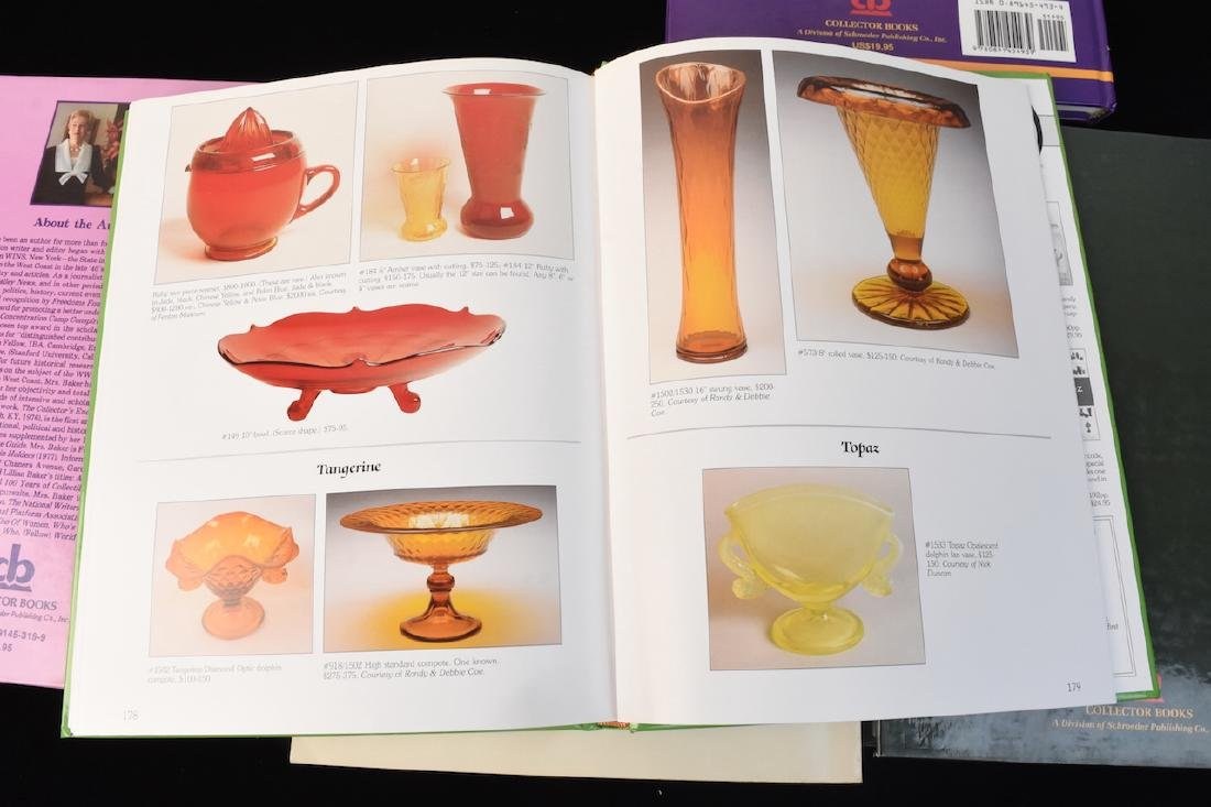 (5) Reference Books; Jewelry, Fenton, Tools + - 6