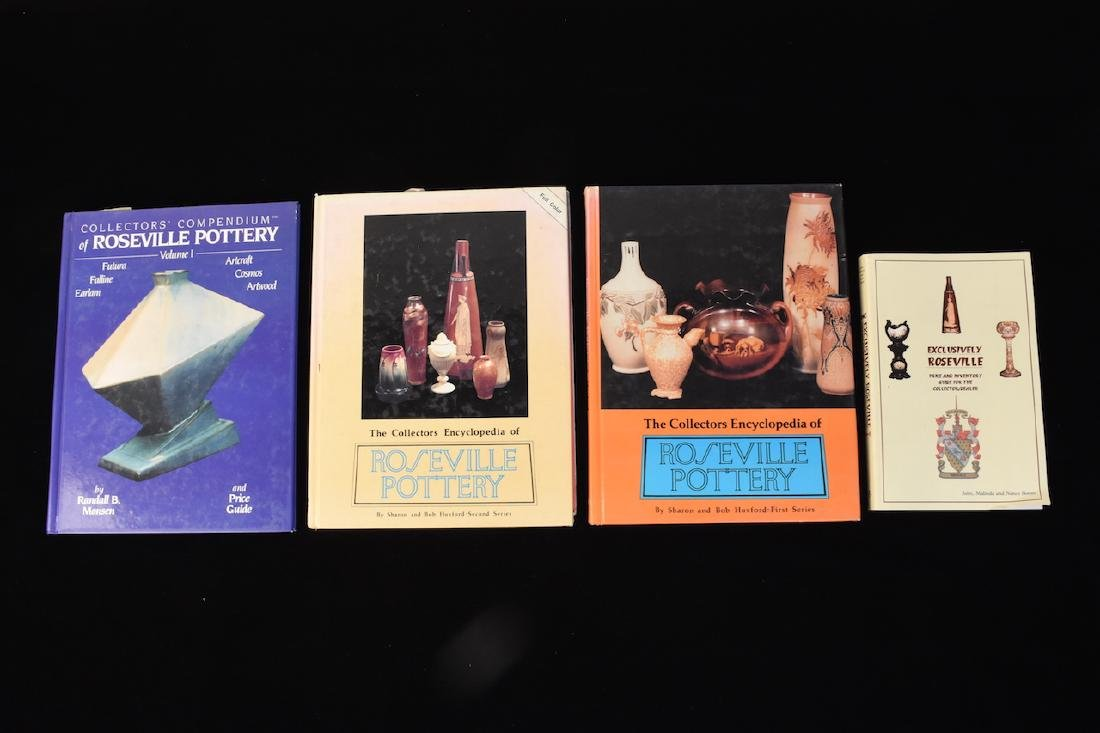 (4) Roseville Pottery Reference Guide Books