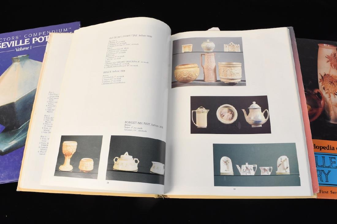 (4) Roseville Pottery Reference Guide Books - 2