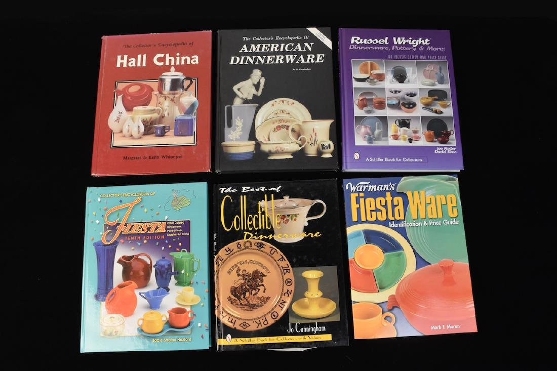 (6) Reference Guide Books to Dinnerware