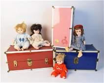 Vintage Effanbee & Mary Jane Dolls & Trunks