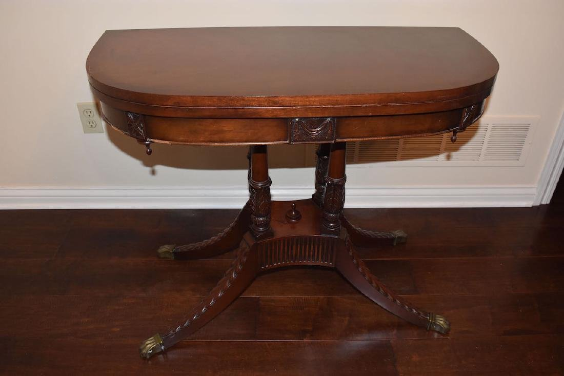 Mahogany Duncan Phyfe Game Table No. 2711